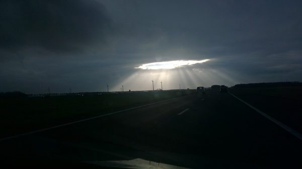 Om 15:55 uur genomen op de A6 Flevoland richting Almere. #buienradar
