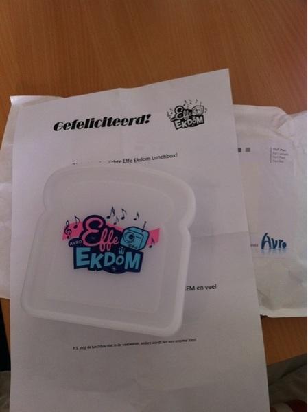 Een @effeekdom lunchbox met quote van @gerardekdom. Cool!