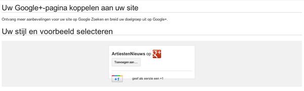 Het ziet er naar uit Google wat styling issues heeft met hun eigen badge