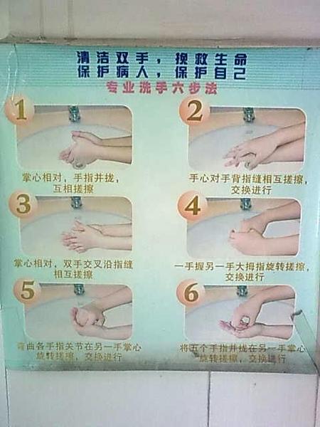 - 专业洗手六步走
