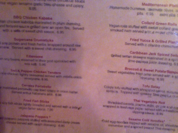 Why is everything fried on the Red Bamboo menu?