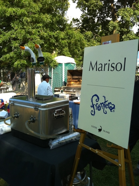 AND at Green City Mkt Chefs BBQ we poured our new Goose Island-Crafted beer, Marisol.