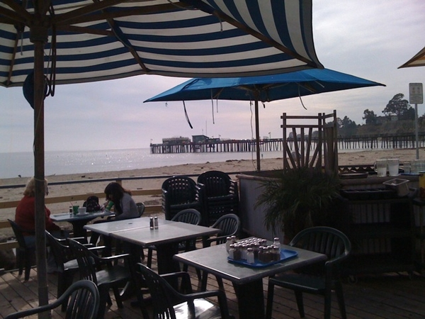 Lunch at Capitola Beach