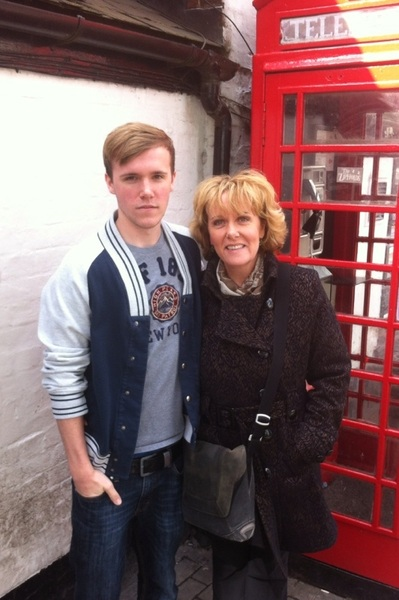 @Pamisab aw thanks Pam xx Taken yesterday with youngest son :-). This is the full pic -->