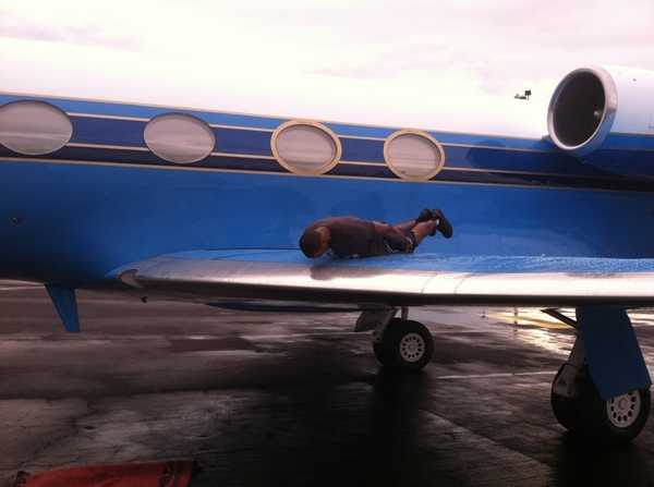 Plane planking lol
