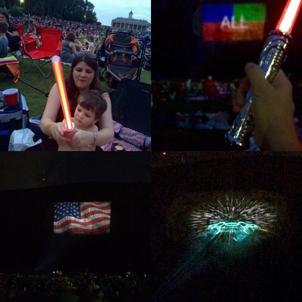 Hey @StoneMtnPark, bring it! #lasershow #lightsaber #stonemountain #dronewars #starwars #georgia