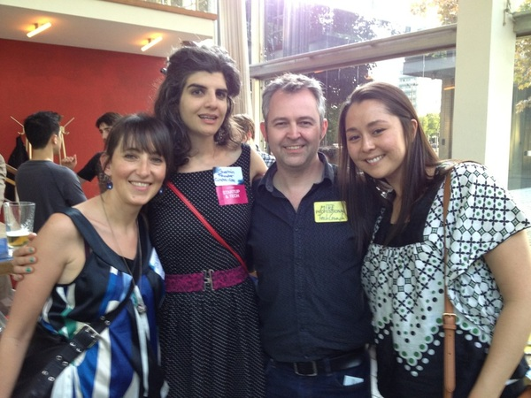 @mikebutcher good seeing you!! Come meet the @BerlinGeekettes sometime! cc: @sherminv @twago_italia