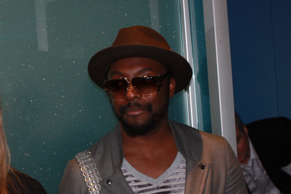Celebrities at #CES 2011:  Photo of Will.I.AM from Black Eyed Peas inside the Intel booth