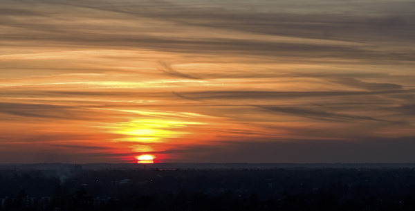 Painted sunset #RichmondPark #London #bbcstargazing