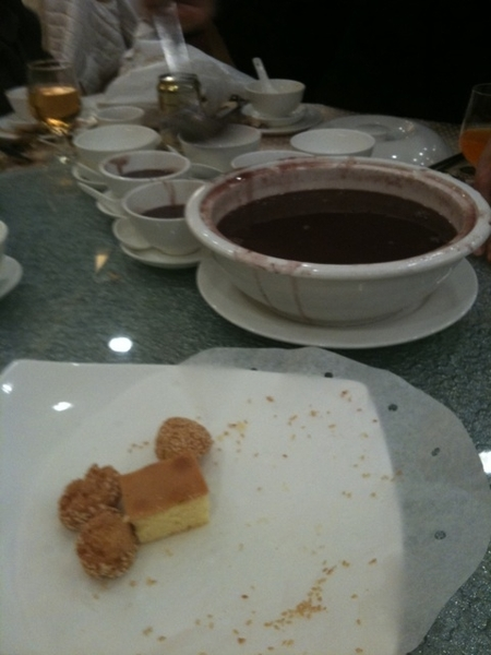 Red bean desert signalling that the end is near
