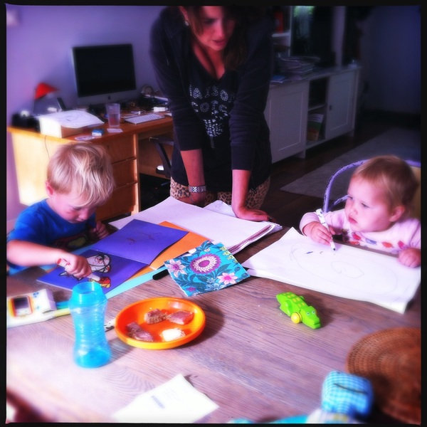 Fletcher of the day: drawing with Sarah