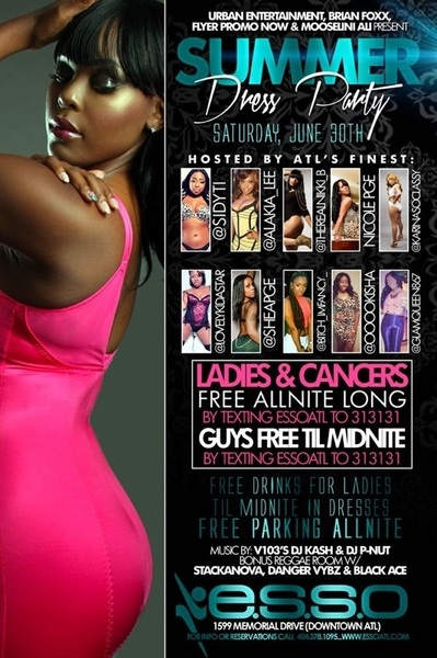 #ESSO WILL BE POPPIN TMRW NIGHT!!!! ME & SOME OF THE SEXIEST LADIES OF ATL WILL BE HOSTING!! #BeThere #WeParty !!