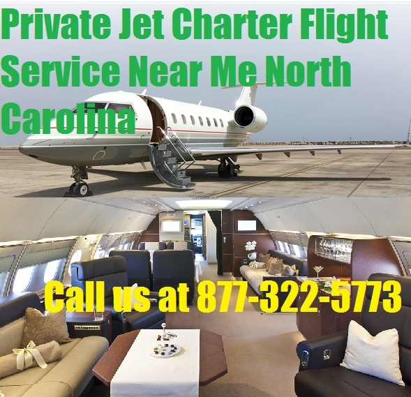 Private Plane Air charter flight service from or to Charlotte, Raleigh, Greensboro NC