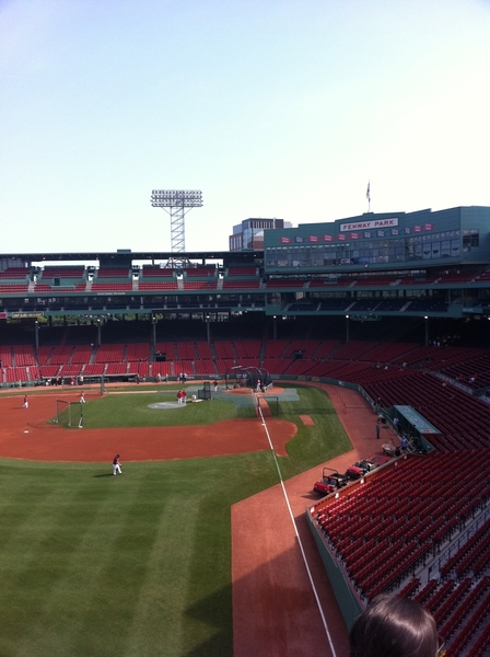 Living a life long dream today... Baseball at Fenway! Batting practice... Then we play ball! #fb