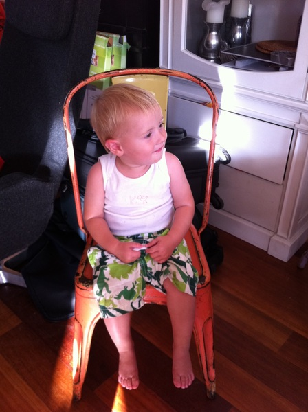Fletcher of the day: watching Opa Robbert