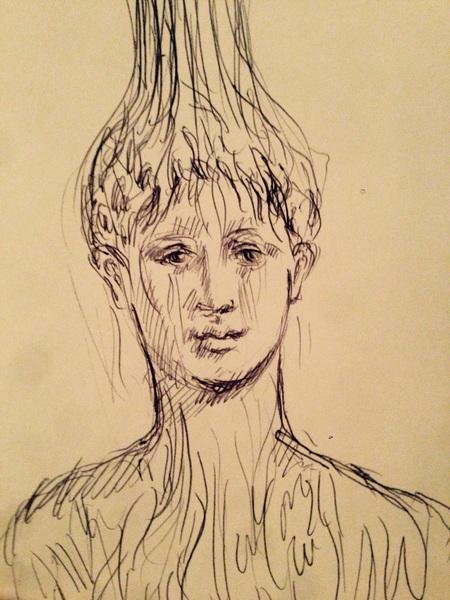 """""""Let Your Grace Flow"""" pen on paper"""