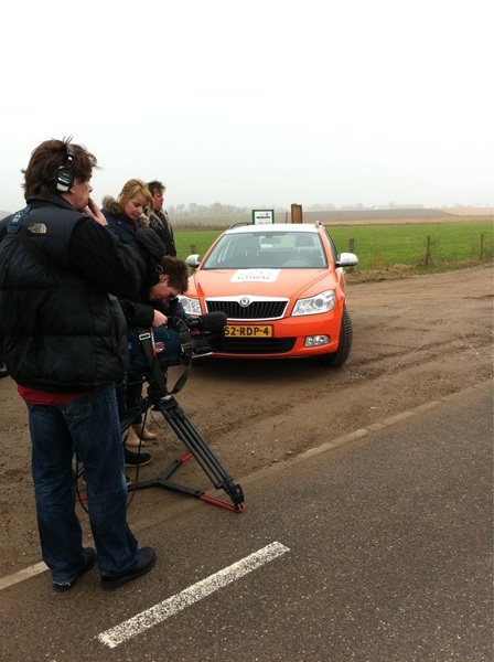 Met de #knwu on the road! Opnames #knwu #raboploegentijdrit