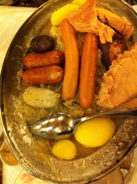 Bofinger: tho thr R many other rustic, heartwarming dishes on the menu, I always seem 2 order  choucroute garni