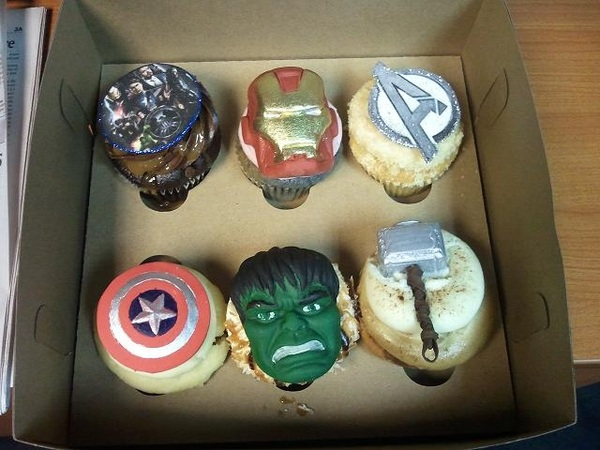Happy #Avengers Day! Cupcakes assemble! Thanks, Clark Gregg. RT @anthoniarevalo please tweet a pic of those cupcakes!