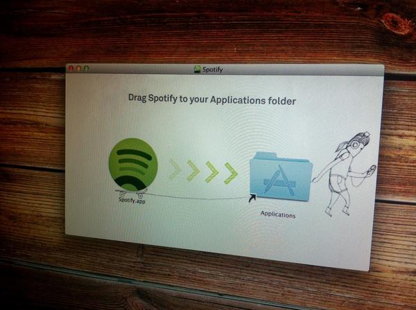 Wat een geweldige visualisatie van hoe je Spotify installeert.