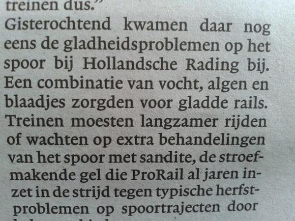 Bij de #NS hebben ze ook last van #alg op t spoor :')