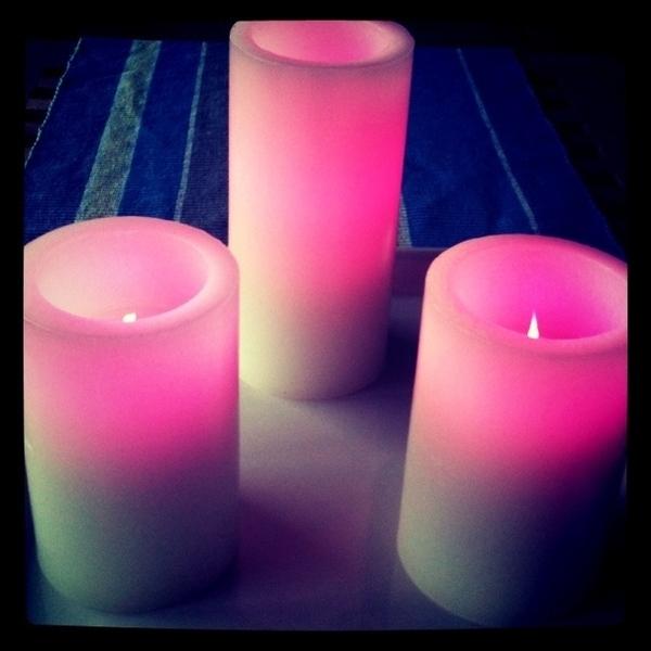 De led kaarsen maar weer aandoen