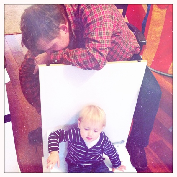 Fletcher of the day: helping Papa