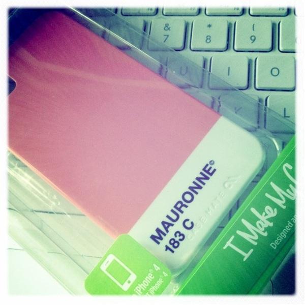 Cadeautje ;-D iPhonehoesje met bedrijfsnaam...