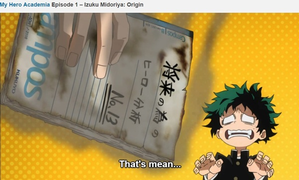 This is why everything you keep should be stored in the cloud.  #MyHeroAcademia