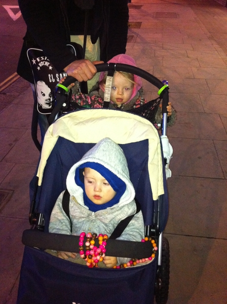 The kiddlets on the stroller in #London