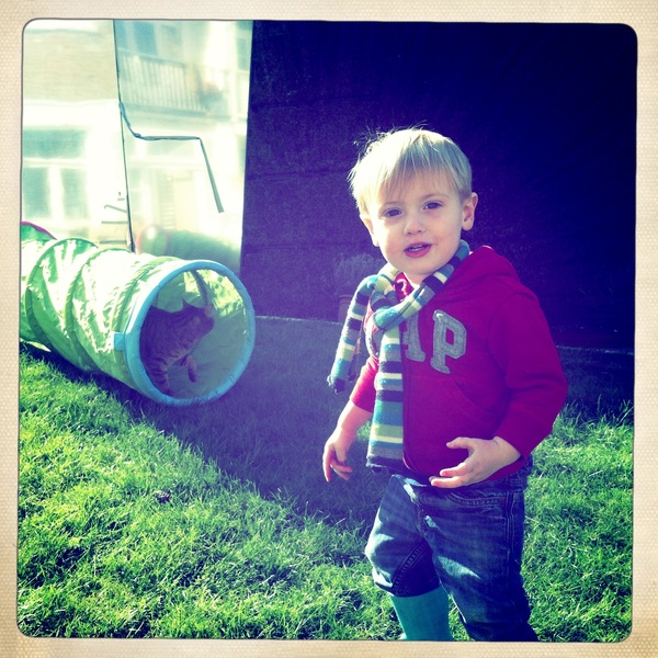 Fletcher of the day: playing in the Garden