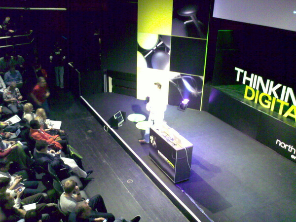 - The stage setup at #TDC10 as well as proj screens front and back there are stage monitors