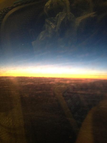 寒波の雲の上はこんなに美しい!