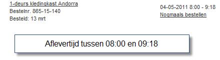 #wehkamp leveringstijden window