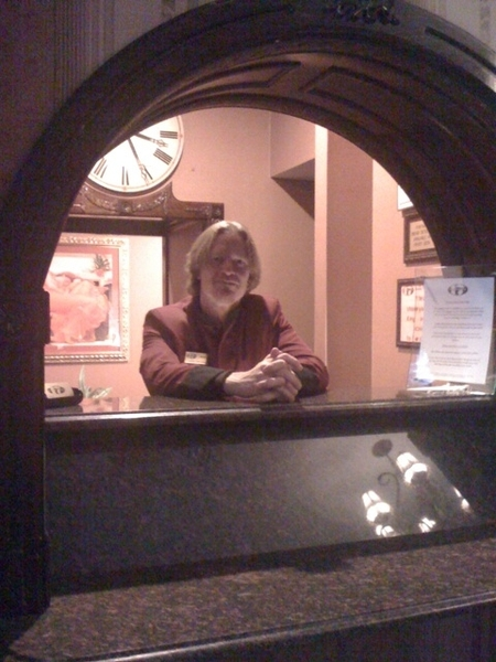 James at the awesome front desk
