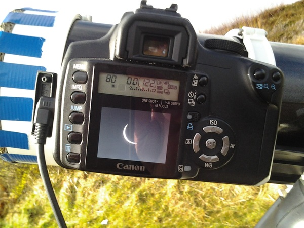 Getting close to maximum #eclipse here on Skye #roadtrip @newburyastro @astroguyz