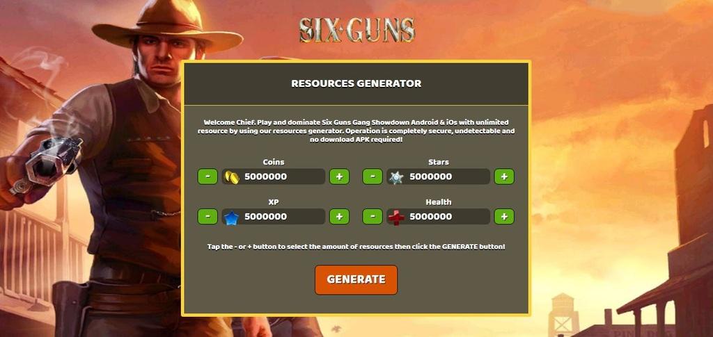 Six Guns Gang Showdown 5000000 Coins Stars Xp Health Ios Android