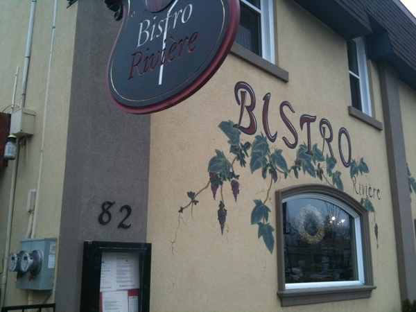 Great food & wines at Bistro Riviere, Erin ON fr Chef Thorntin Holdsworth. Fave red wine here: Vizana Tempranillo