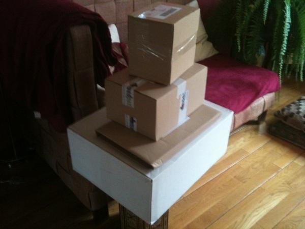Dat bestellen via internet loopt hier wel een beetje uit de hand... :-)