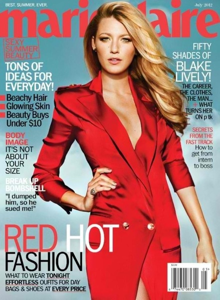 Hey check out my new July cover of @MarieClaire with Blake Lively!