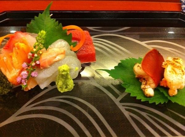 Hilites: Kappo @ Nihonbashi Yukari: stunning sashimi: JP's best tuna,yellowtail,seard lobster,frsh wasabi,shisoX3