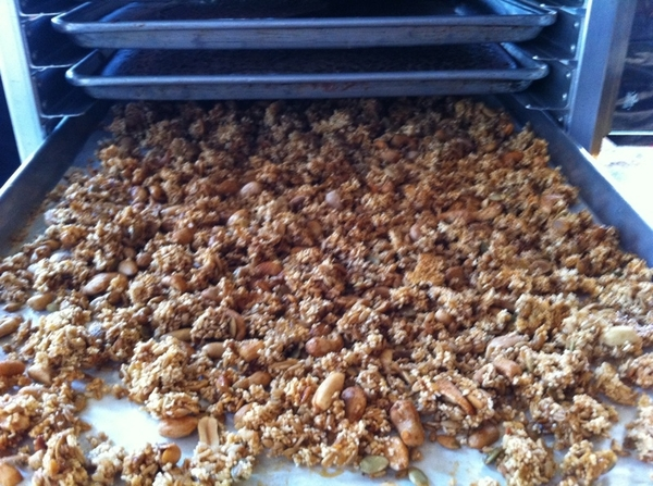 Photo of our Xoco Mexican granola right out of the oven