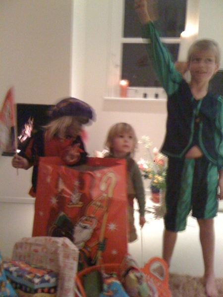 Sinterklaas came by with lots of presents