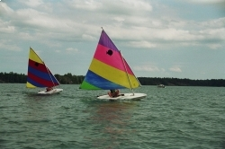 Sailboat race in the sunfish. I think I beat Becky this race. #desbarats http://prbt.nl/F99639A9 #projectbt