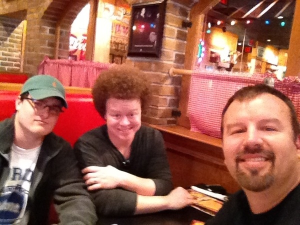 When life gives you lemons, make BBQ! It's lunchtime at Famous Daves in Wichita! Then rental car drive to Kansas City!