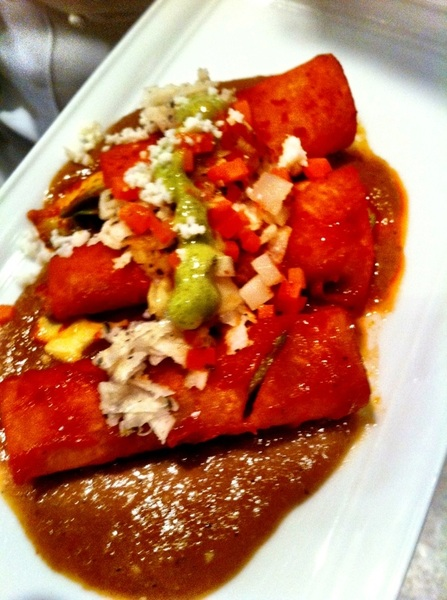 Napa: CIA Greystone Worlds of Flavor conf: Lucero Soto (Restaurante Lu) made enchiladas placeras from jicama not torts