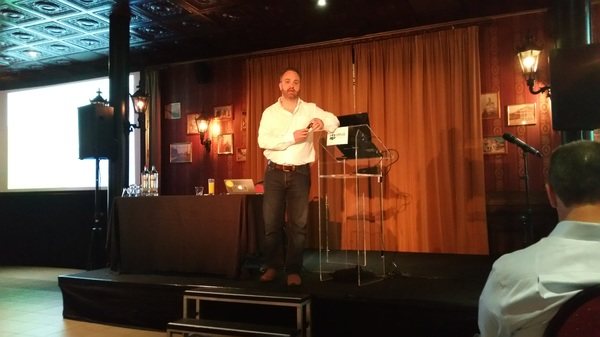 On stage @JoeBaguley for keynote #vmugbe