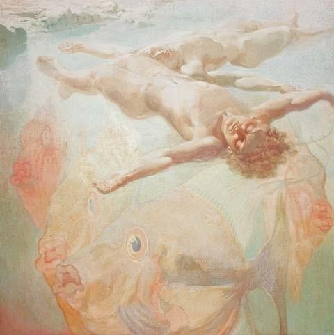 """""""Mar en reposo"""" de Néstor de la Torre. Serie """"Poema del Atlántico"""". Museo Nestor, Las Palmas de Gran Canaria"""