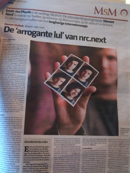 Aaah. A whole page @dutchproblogger in the pers?!