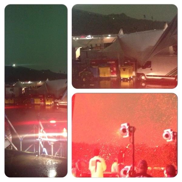 Vandaag is rood! de kleur van de weercode. Bij arcade fire regende t net confetti. En die tent is nu impotent #PP14